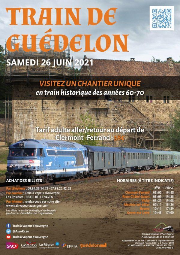 Affiche Train de Guédelon